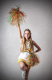 Junge schöne Cheerleader Stockfoto