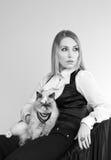 Junge schöne Frau, Dame, Studio Lizenzfreie Stockfotografie