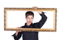 Junge schöne Geschäftsfrau Stockfotografie