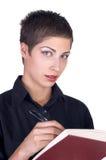 Junge schöne Geschäftsfrau Stockfoto
