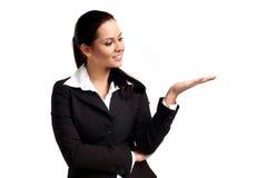 Junge schöne Geschäftsfrau lizenzfreie stockbilder