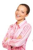 Junge schöne Geschäftsfrau Lizenzfreies Stockfoto