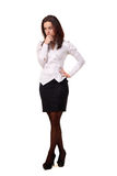 Junge schöne Geschäftsfrau Stockbild