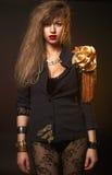 Junge schöne kaukasische Blondine Stockfotos
