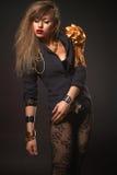 Junge schöne kaukasische Blondine Lizenzfreies Stockfoto