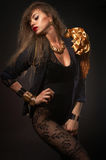 Junge schöne kaukasische Blondine lizenzfreie stockbilder