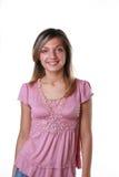 Junge schöne lächelnde Frau Stockfoto