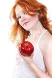 Junge schöne reizvolle rote Frau Lizenzfreies Stockfoto