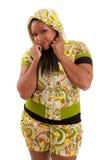 Junge schöne schwarze Frau Stockfotos