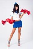 Junge schöne Stewardess Stockfotografie