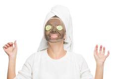 Junge Schönheit in der Maske für das Gesicht Lizenzfreie Stockfotografie