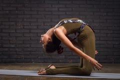 Junge Schönheits-übendes Yoga Lizenzfreie Stockfotos