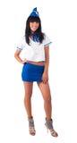 Junge schöne Stewardess Stockfotos