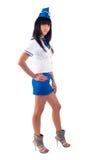Junge schöne Stewardess Stockfoto
