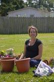 Junge-schwangerer Gärtner Stockfotografie
