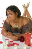 Junge schwarze Frau Stockfotografie