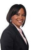 Junge schwarze Geschäftsfrau Lizenzfreie Stockfotos