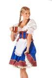 Junge sexy Oktoberfest-Frau Lizenzfreie Stockfotografie