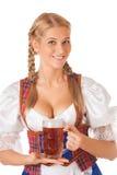Junge sexy Oktoberfest-Frau Stockbild
