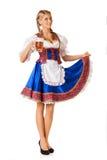 Junge sexy Oktoberfest-Frau Stockfoto