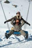 Junge Snowboarders lizenzfreie stockfotos