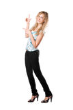 Junge spielerische blonde Frau Lizenzfreie Stockfotografie