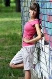Junge sportliche Frau stockfotografie