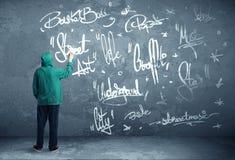 Junge städtische Malerzeichnung Stockfotografie