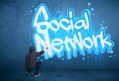 Junge städtische Malerzeichnung Stockbild