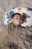 Junge am Strand Lizenzfreies Stockbild