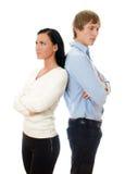 Junge streitene Paare. Stockbilder