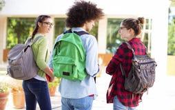 Junge Studenten auf dem Campus Stockfotografie