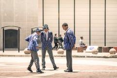 Junge Studenten in Gandhi-Quadrat Johannesburg Stockbild