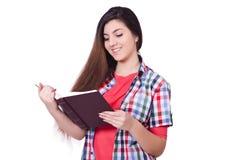Junge Studentin lokalisiert Lizenzfreie Stockbilder