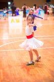 Junge Tänzer, die dem 18. Wettbewerb Guangdongs Dancespots Chamionship sich anschließen Lizenzfreie Stockbilder