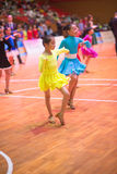 Junge Tänzer, die dem 18. Wettbewerb Guangdongs Dancespots Chamionship sich anschließen Lizenzfreies Stockbild