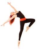 Junge Tanzenfrau stockfotos