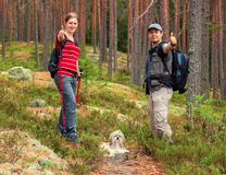 Junge Touristenpaare Lizenzfreie Stockfotos