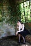 Junge traurige Frau lizenzfreie stockfotos