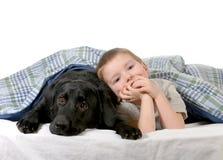 Junge und Hund Lizenzfreie Stockfotografie