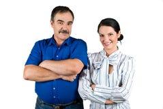 Junge und ältere Geschäftsleute Stockbilder