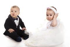 Junge und Mädchen lizenzfreies stockbild