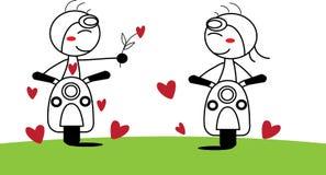 Junge und Mädchen in der Liebe Lizenzfreies Stockbild