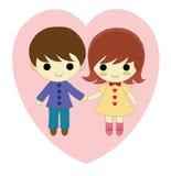 Junge und Mädchen in der Liebe stock abbildung