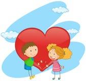 Junge und Mädchen in der Liebe Stockfoto