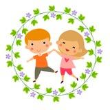 Junge und Mädchen Lizenzfreies Stockfoto