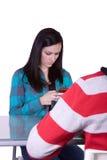 Junge und Mädchen auf einem Datum Lizenzfreie Stockfotos