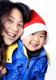 Junge und Mutter Stockfotografie