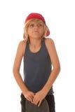 Junge und Skateboard Lizenzfreie Stockfotografie