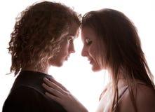 Junge unterstützen Lit-Paare in der Liebe Stockfotos